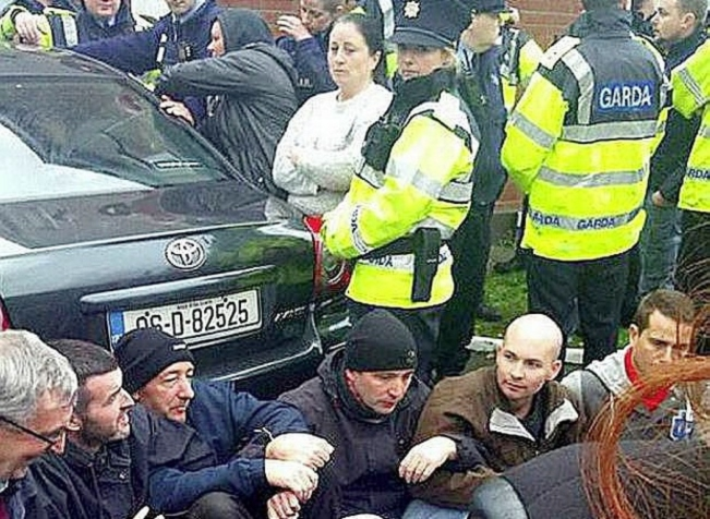 T he sit-down protest at Jobstown, Tallaght, November 2014