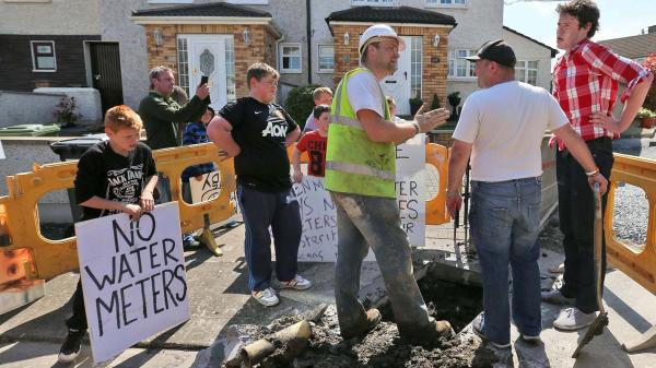 Anti-meter protesters confront Irish Water contractors in Raheny  Colin Keegan