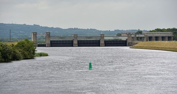 Parteen Weir on Lough Derg. Photograph: Alan Betson