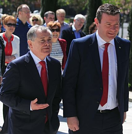 Brendan Howlin & Labour TD Alan Kelly (Photo: Collins Photo Agency)