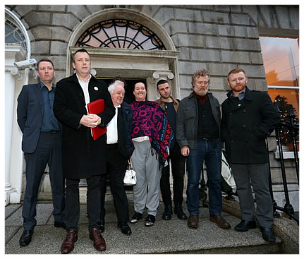Apollo House reps after meeting Simon Coveney- photo newstalk