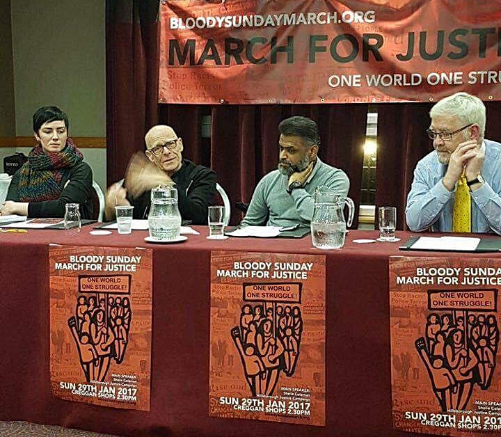 Joanne Donnelly, Eamonn McCann, Moazzam Begg and Francie McGuigan