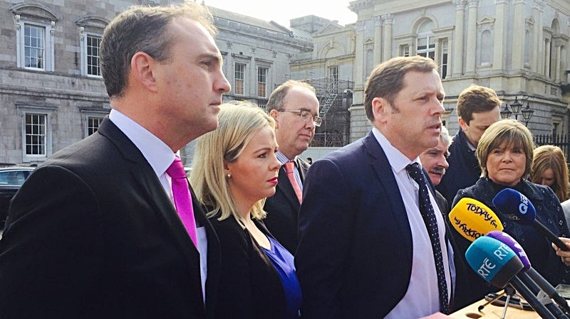Barry Cowen with Fianna Fáil Committee members