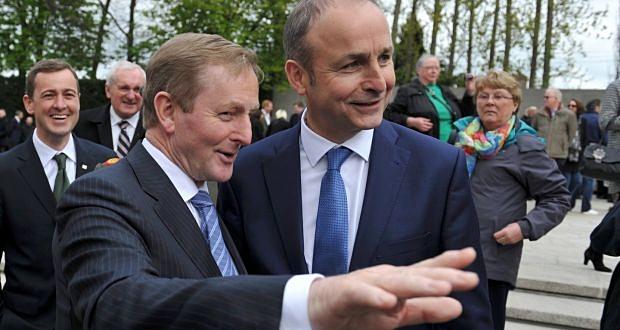 Enda Kenny, Fine Gael, Taoiseach and Michéal Martin, Fianna Fáil Leader