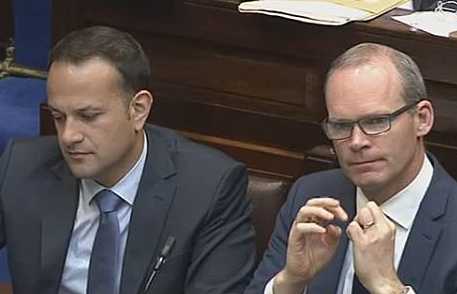 Leo Varadkar, left andSimon Coveney, right