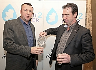 Last Thursday, April 14, Brendan Ogle, spokesperson for Right2Water affiliated trade unions, made a personal statement on his Facebook page calling on all Dail TDs who support the anti water charge campaign to vote for a Fianna Fáil minority government.   Picture Brendan Ogle, Unite and John Douglas, Mandate.