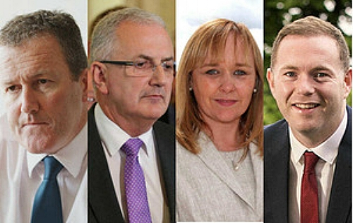 Water ministers since 2007, from left, Sinn Féin's Conor Murphy, UUP's Danny Kennedy, DUP's Michelle McIlveen and Sinn Féin's Chris Hazzard