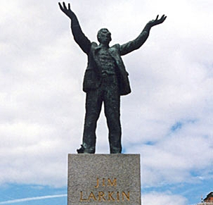 James Larkin, O'Connell St, Dublin.  Original photo by Oisín Kelly