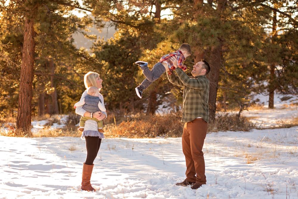 Denver Snow Family Photos