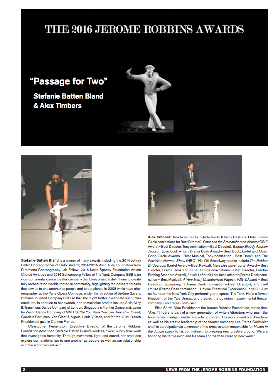 Jerome Robbins Newsletter 1