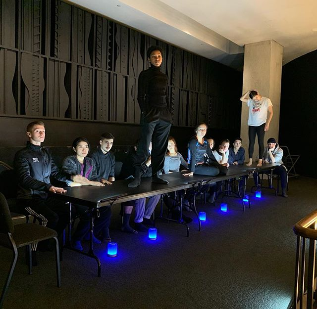 """PREVIEWS👀✨ of our lobby installation to be!! The countdown truly begins now as we hit TECH WEEK with the students of @juilliardschool 💪🏾✨! Catch them premiere my newest work """"Look who came to dinner"""" December 7-11 at Juilliard's Peter Jay Sharp Theater- tickets available online! . . . #premiere #nyc #sbb #birdland #choreography #juilliard #newdances #welcometobirdland #killingit #fourthyears #installation #performance #immersive #dancetheatre #create #lovewhatido #pauldamienhogan"""