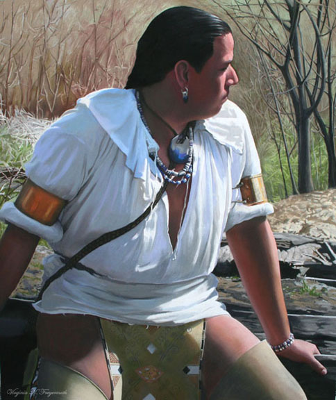 Portrait of a Wampanoag