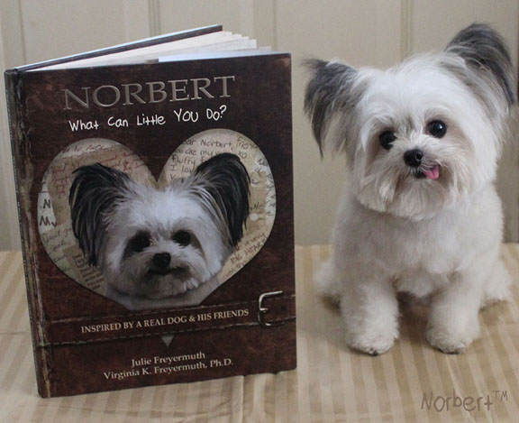 Photo of the real Norbert with his second book