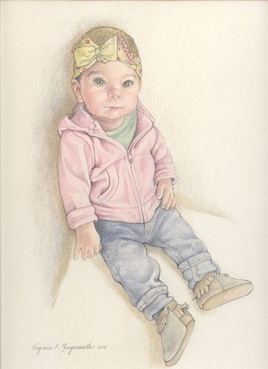 Her First Jeans     Watercolor & Pencil   2018