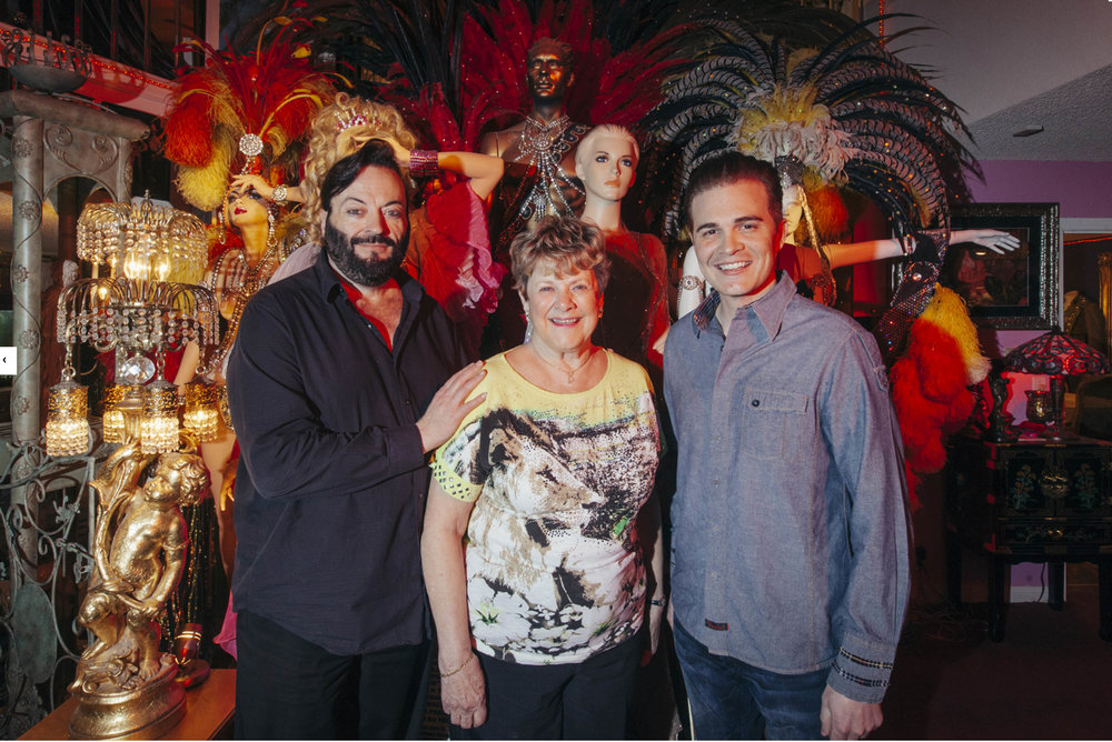 CEO and Head Curator Grant Philipo, President Mary Dee Mantle and Vice President Dallas Fueston of the Las Vegas Showgirl Museum. Photo by:  MIKAYLA WHITMORE