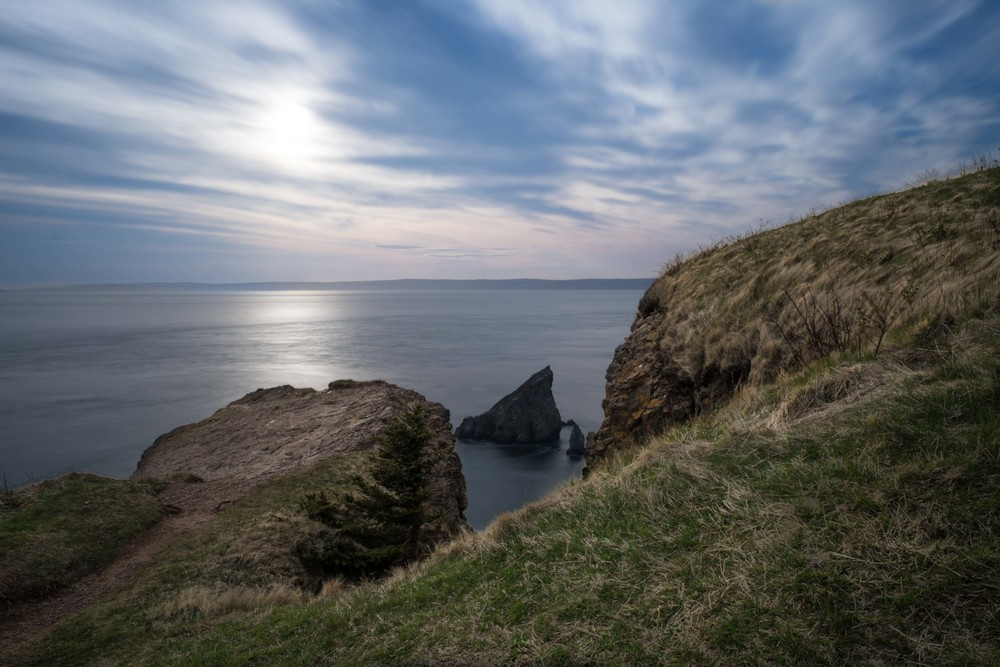 Cape Split, Nova Scotia before sunset.