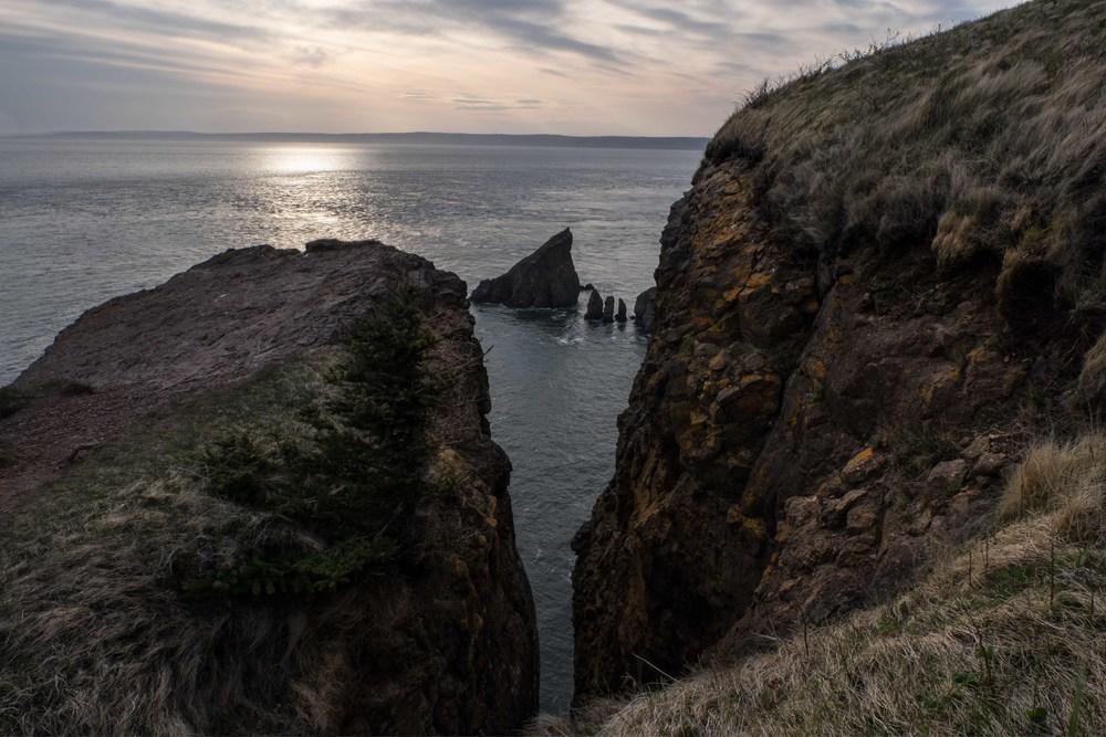 Cape Split, Nova Scotia.  Love the orange detail on the cliffs.