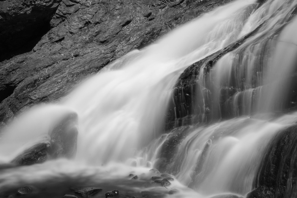 A different take on the falls from the side, black and white style.