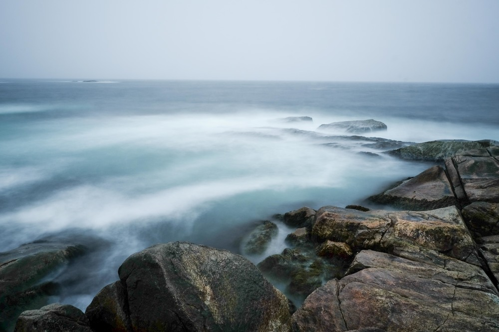 A foggy afternoon on the coast of Peggy's Cove
