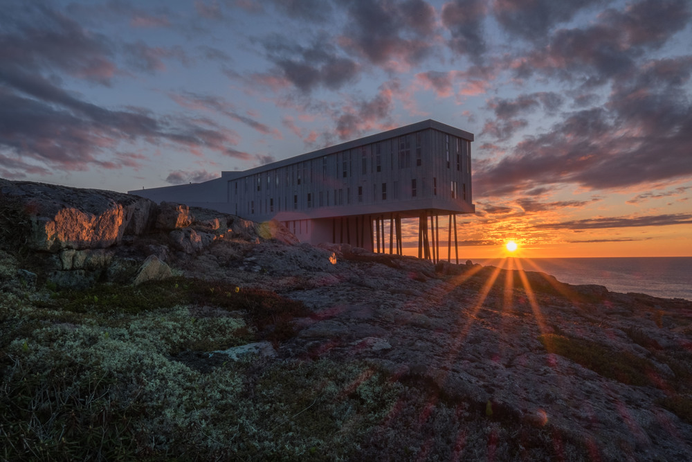 Fogo Island Inn at Sunset