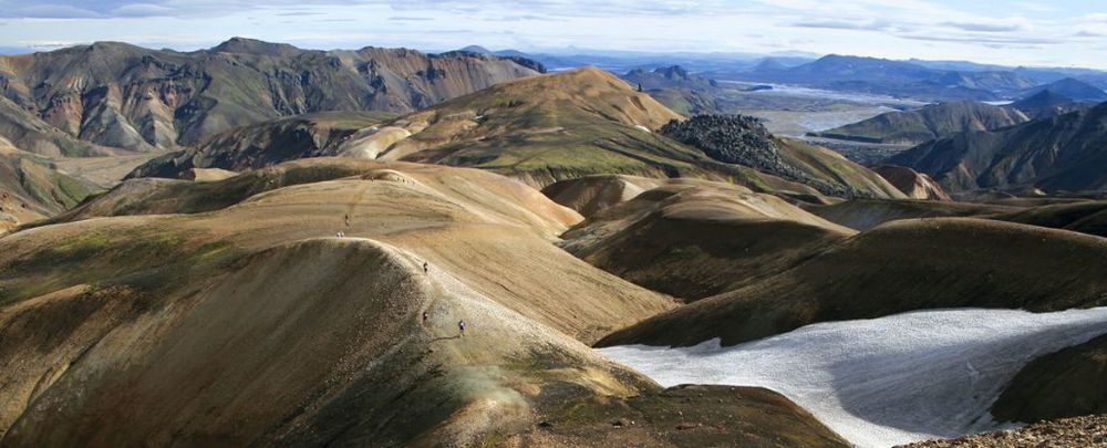 Laugavegur  Ultra Marathon  is 55km ultra-marathon on beautiful terrain like this