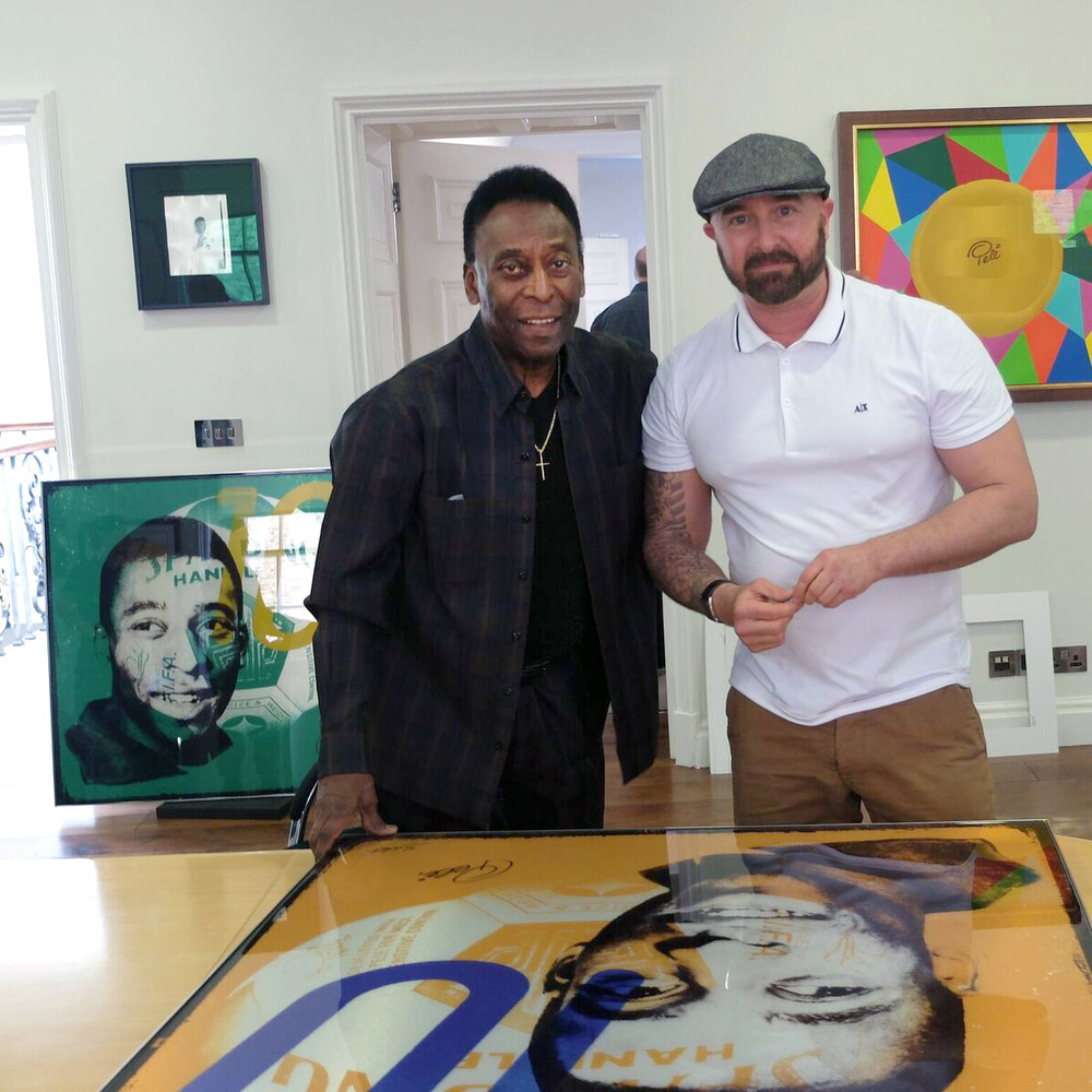Louis Sidoli Neon Art: Pele Art Life Football - Halyon Gallery - 2