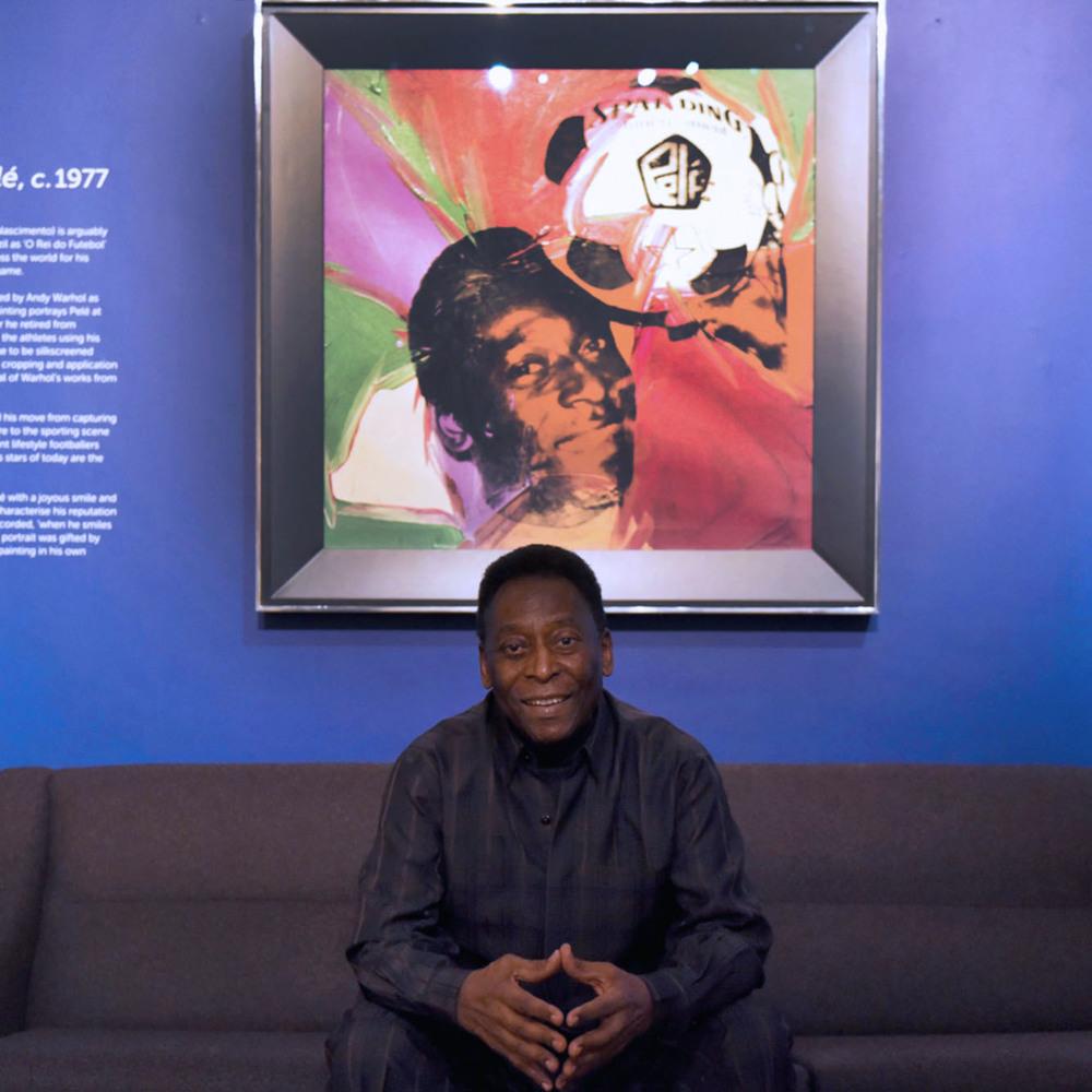 Louis Sidoli Neon Artist: Pele Art Life Football - Halyon Gallery
