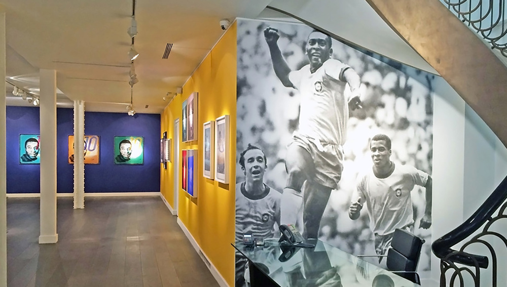 Louis Sidoli Neon Art: Pele Art Life Football - Halyon Gallery - 16