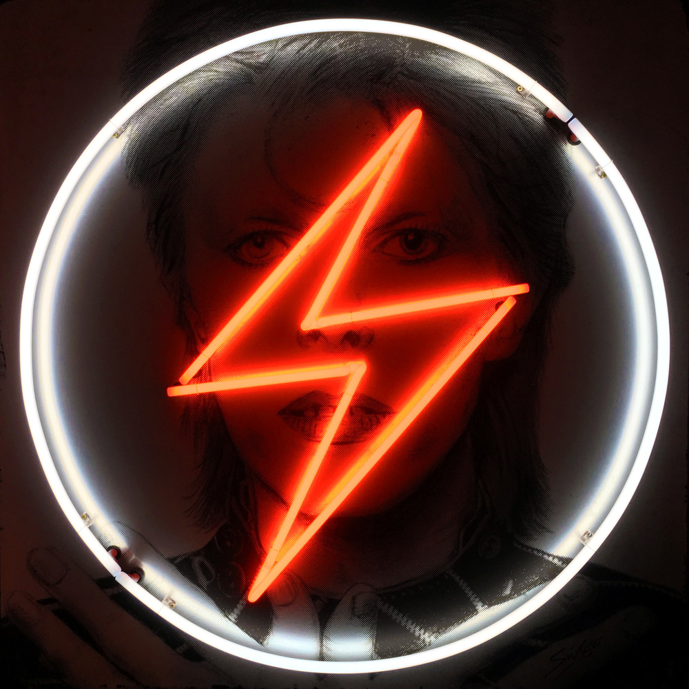Louis Sidoli Neon Artist: David Bowie - Golden Years Exhibition