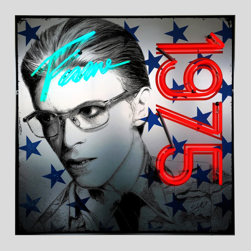 Louis Sidoli: Bowie Neon #GoldenYears Exhibition