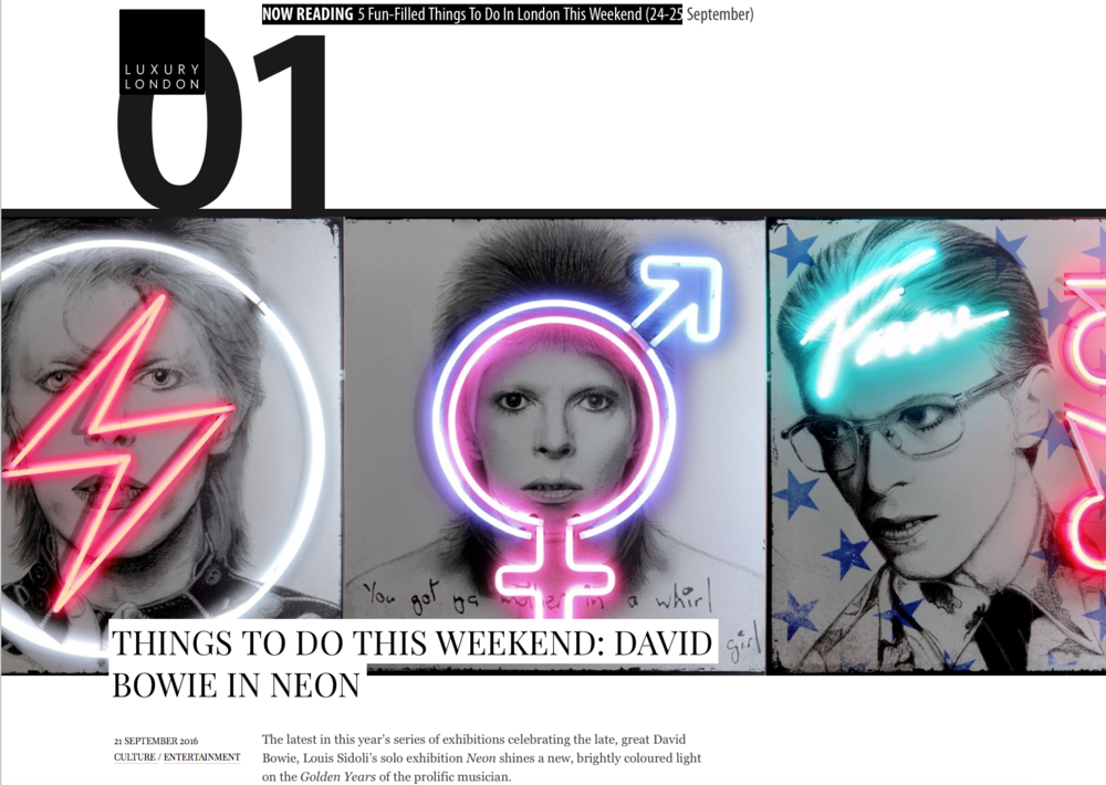 Louis Sidoli Neon Artist: Luxury London Magazine