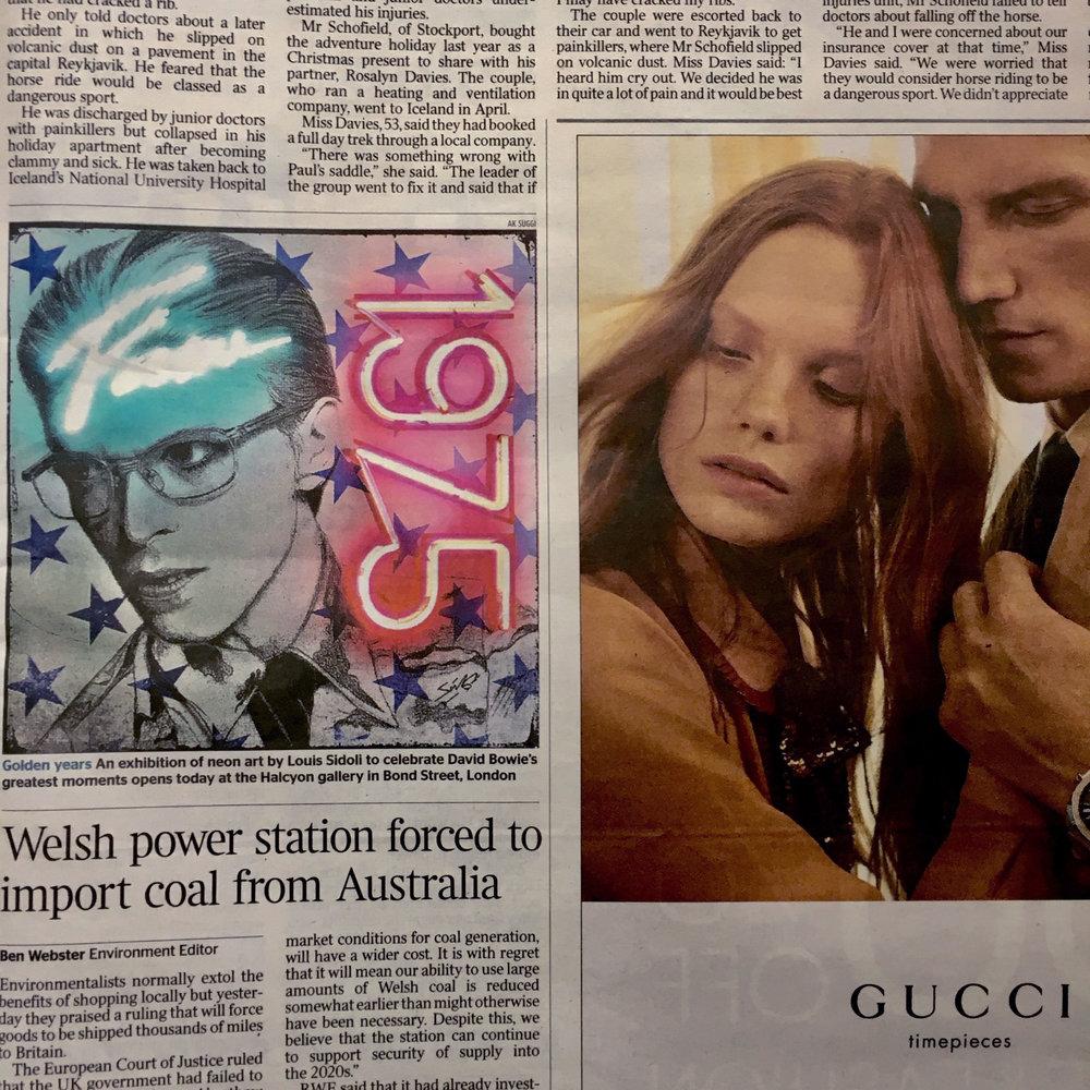 Louis Sidoli Neon Art: The Times