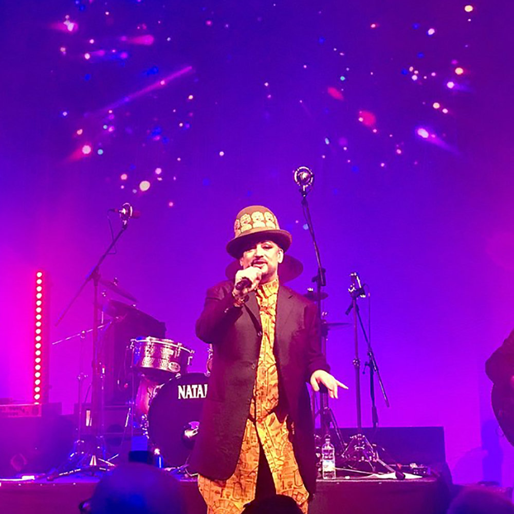 "Louis Sidoli Neon Art - Boy George performs at ""Sound + Vision"""