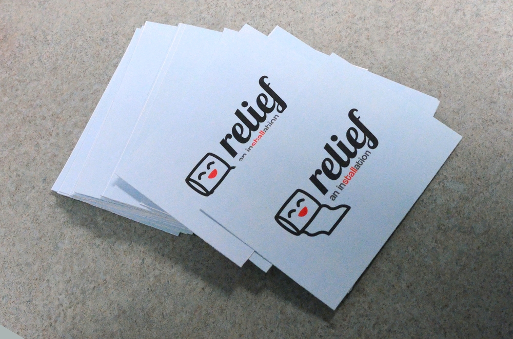Takeaway cards given to participants. The back includes the #RITRelieved hashtag and links to online resources for mental wellness information and assistance.   Click the image to enlarge.
