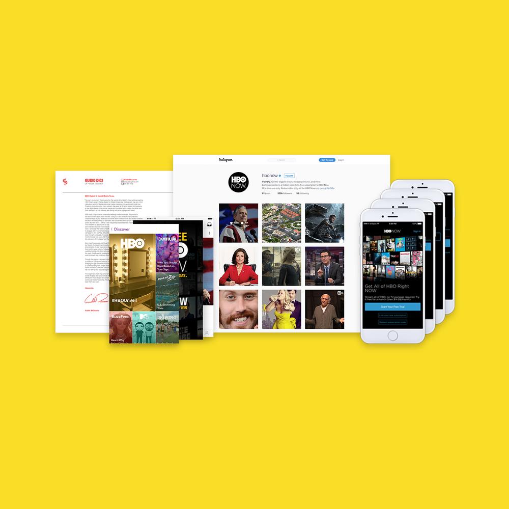 #HBOUnveil  Visual Design • Digital Marketing • Prototyping