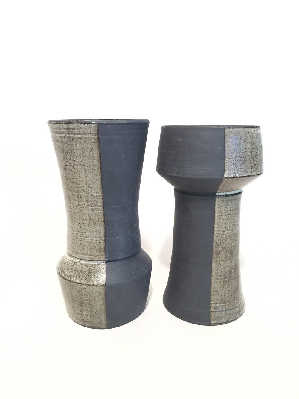 Reversible Vases in Black Clay