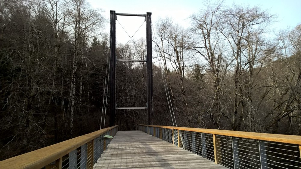 Bridge leaving the Tillamook Forestry Center