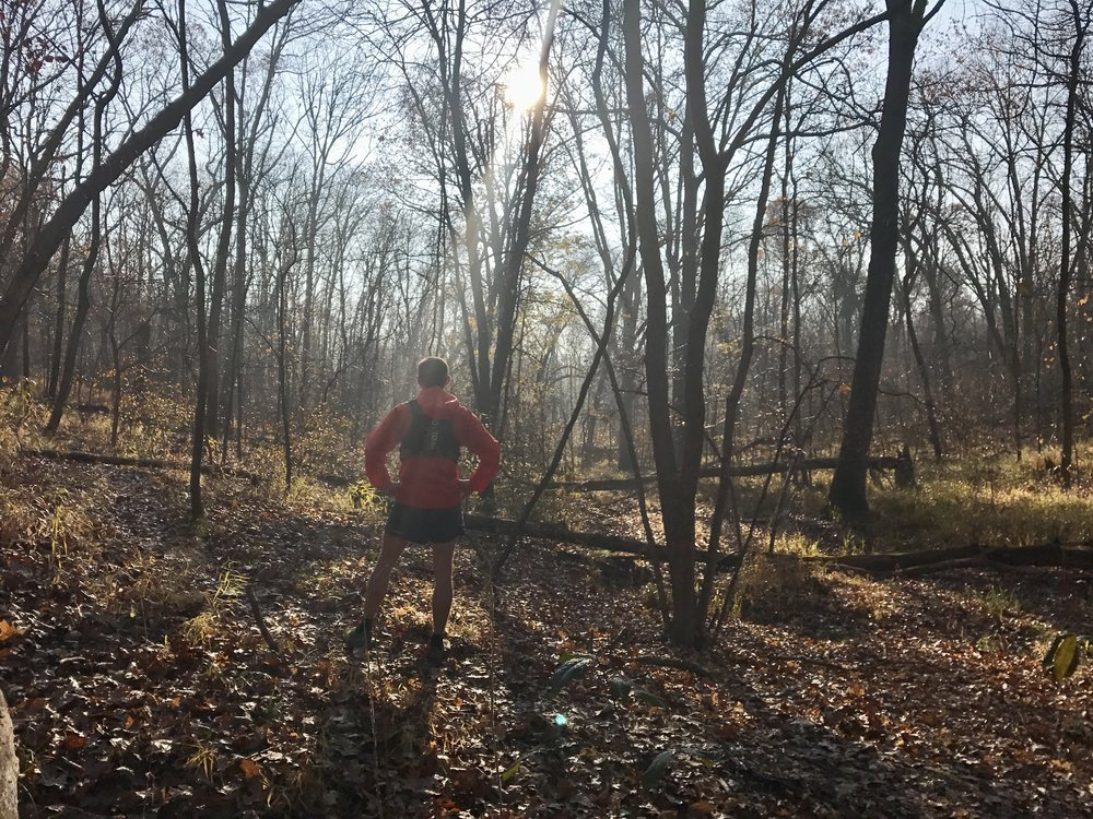 Tommy Doias and I get out for a Green Rock Trail run every time I am back east for a visit.   Thanksgiving Weekend - Eureka, MO