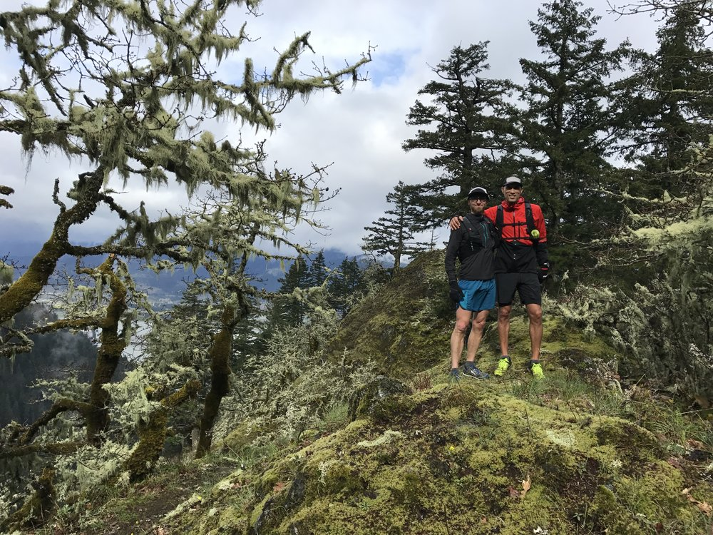 Ruckel Ridge Trail - Cascade Locks, OR - Jeff and Yassine stop long enough to pose