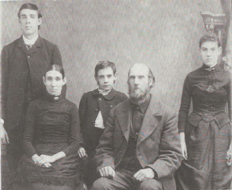 My paternal grandmother's grandmother as a girl with her family (1880s)