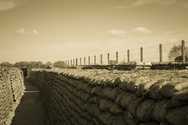 A trench in Flanders. (CanStockPhoto)