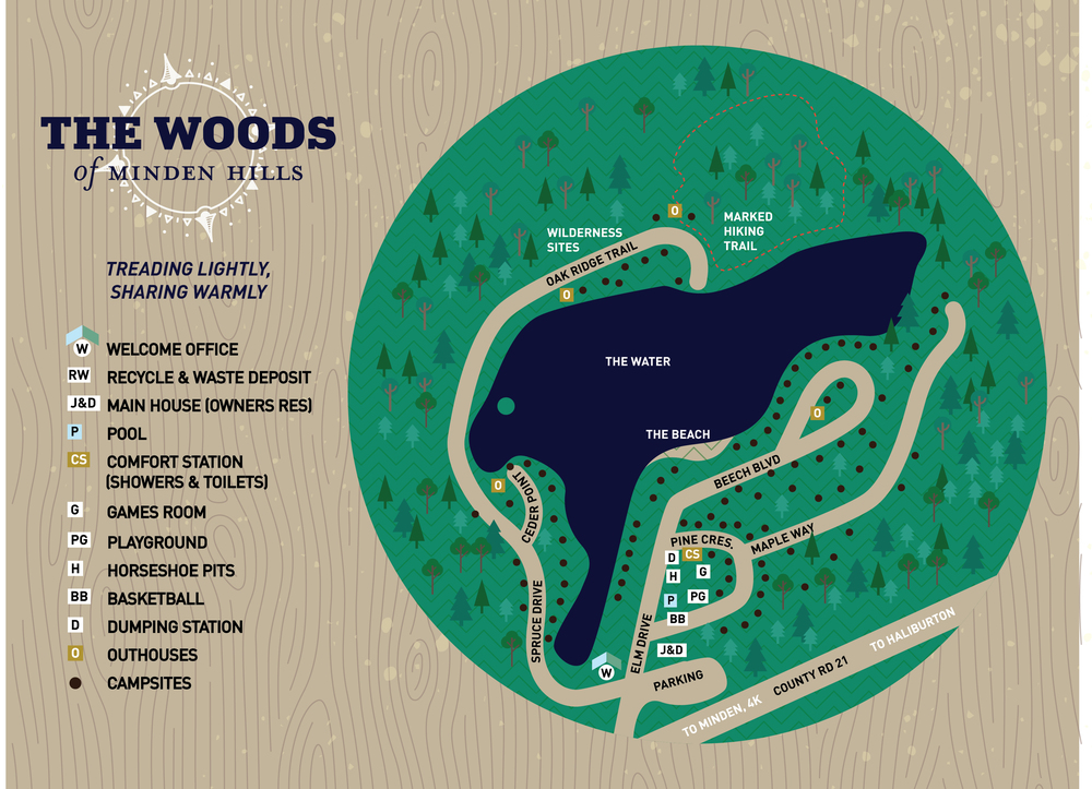 The_Woods_of_Minden_Hills_Park_Map