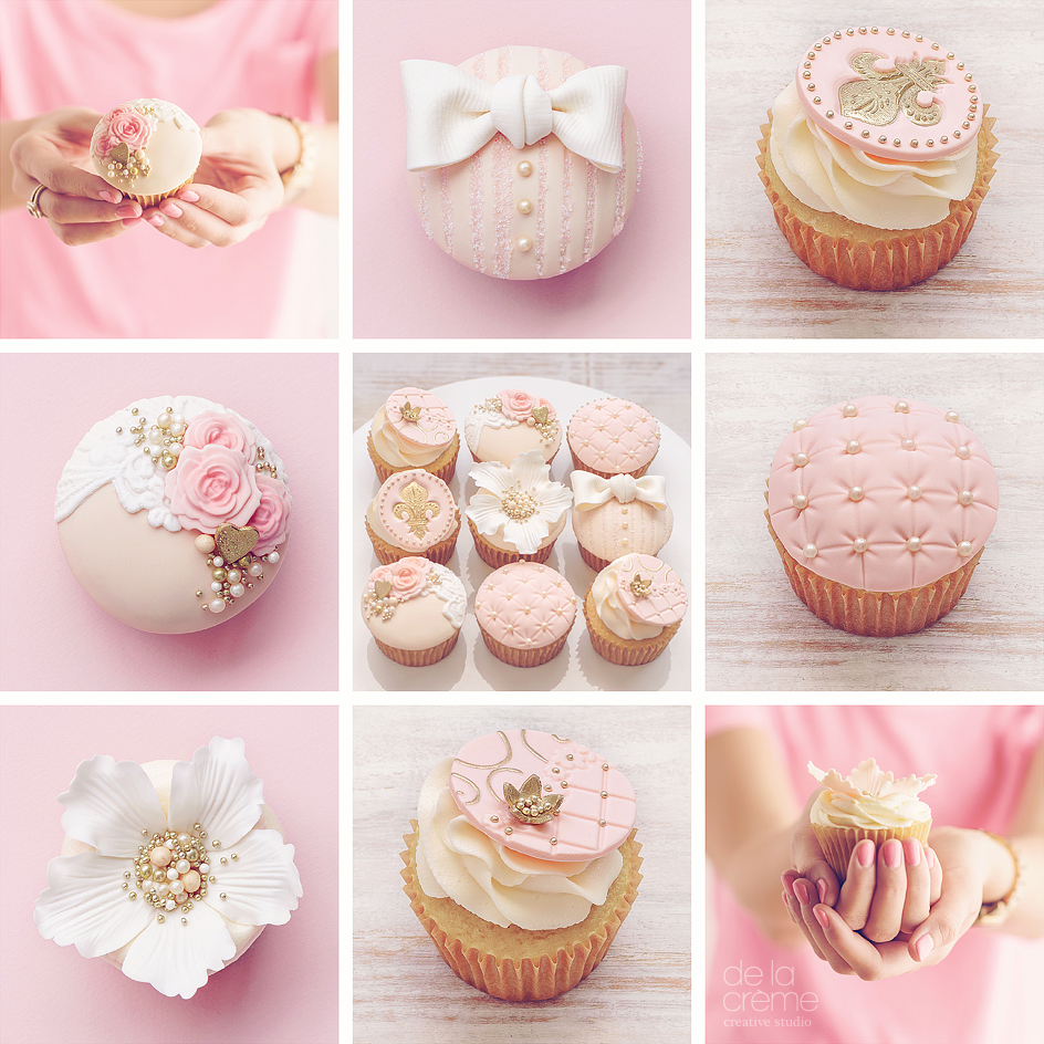 bridal shower cupcake set