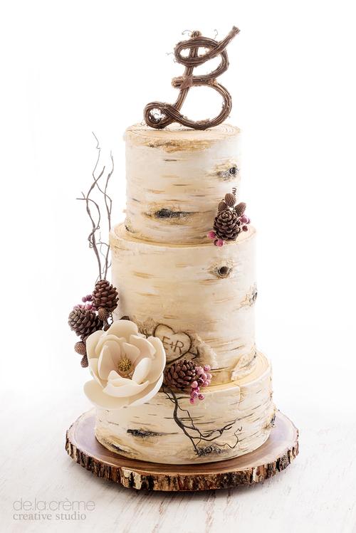 Birch Tree Wedding Cake De La Creme Creative Studio