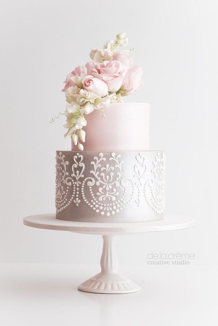 Sweet Pea Petite Wedding Cake — De la Crème Creative Studio