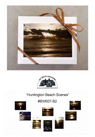 """Huntington Beach Scenes""     #BW007-B2"