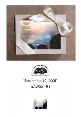 """""""September 19, 2005""""     #AW001-B1"""
