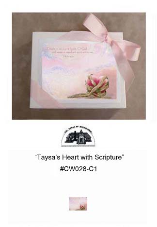 """Taysa's Heart with Scripture""     #CW028-C1"