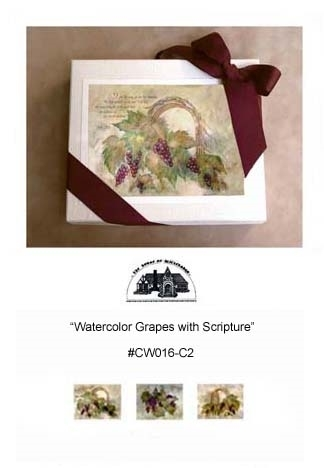 """Watercolor Grapes with Scripture"" #CW016-C2"