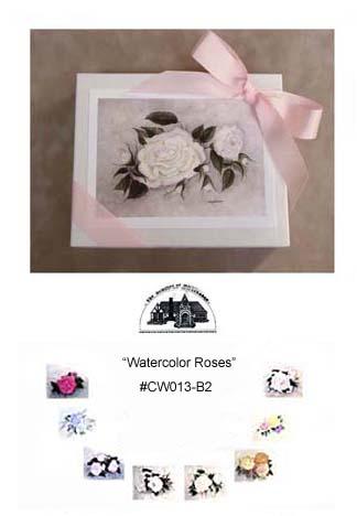 """Watrcolor Roses""     #CW013-B2"